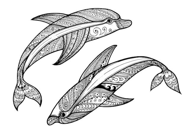 malvorlagen delfin ui