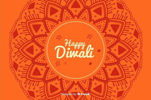 Hand gezeichneter diwali hintergrund Kostenlosen Vektoren