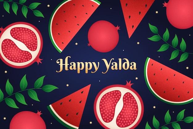 Hand gezeichneter hintergrund der yalda-elemente Premium Vektoren