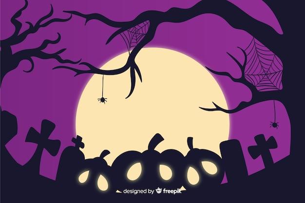 Hand gezeichneter hintergrund für halloween Kostenlosen Vektoren