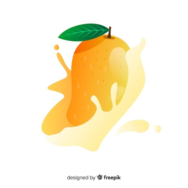 Hand gezeichneter mangohintergrund Kostenlosen Vektoren