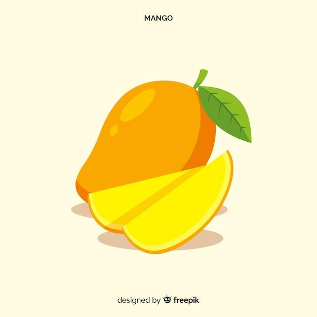 Hand gezeichneter mangohintergrund Premium Vektoren