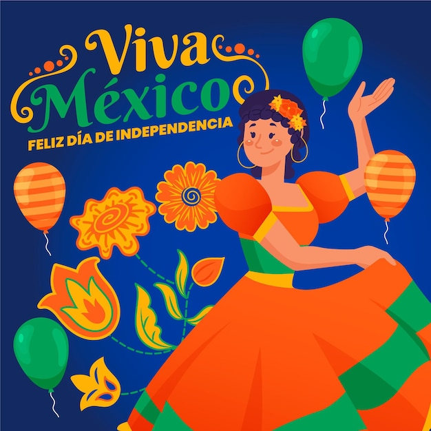 Hand gezeichneter mexikanischer unabhängigkeitstag Kostenlosen Vektoren