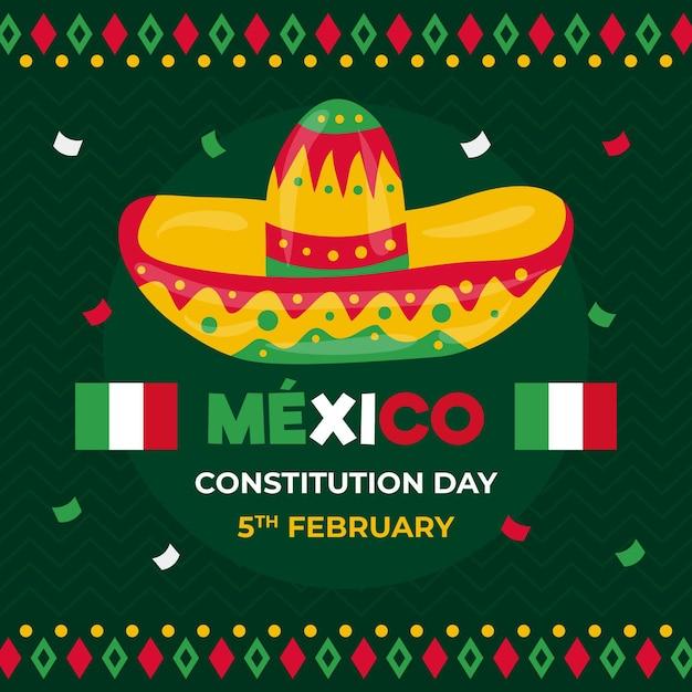 Hand gezeichneter mexikanischer verfassungstag Kostenlosen Vektoren