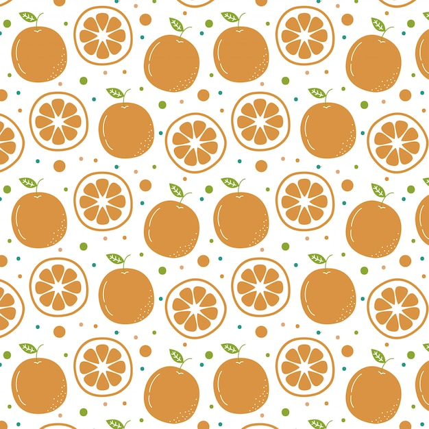 Hand gezeichneter orange musterhintergrund Premium Vektoren