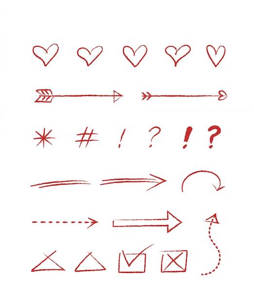 Hand gezeichneter stil für konzeptentwurf. gekritzelillustration. vorlage für die dekoration Premium Vektoren