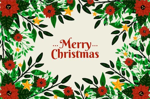 Hand gezeichneter weihnachtsbaumasthintergrund Kostenlosen Vektoren