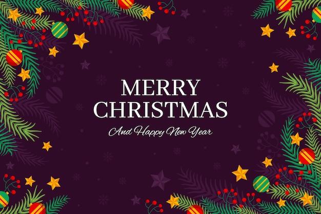 Hand gezeichneter weihnachtsbaumzweighintergrund Kostenlosen Vektoren