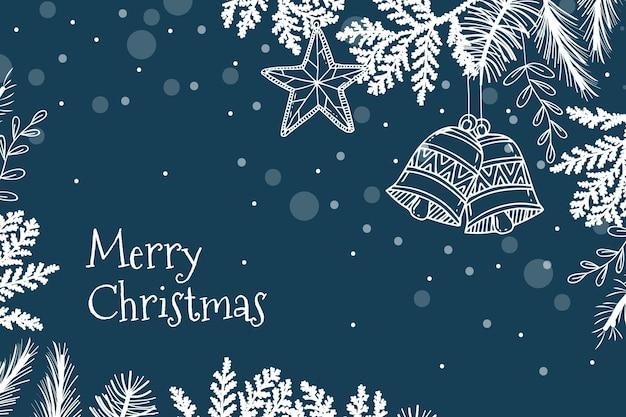 Hand gezeichneter weihnachtshintergrund Premium Vektoren