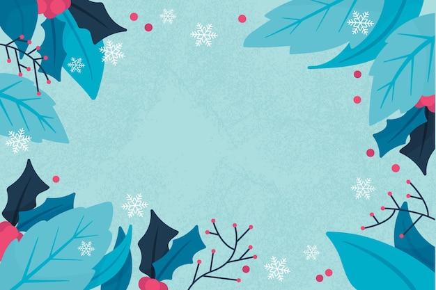 Hand gezeichneter winterhintergrund Kostenlosen Vektoren