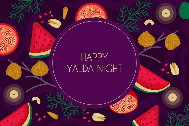 Hand gezeichneter yalda-hintergrund Kostenlosen Vektoren