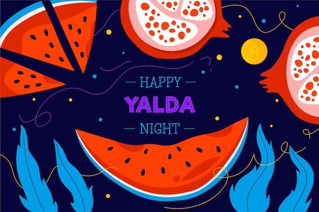 Hand gezeichneter yalda-hintergrund Premium Vektoren