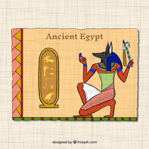 Hand gezeichnetes altes ägypten-konzept Kostenlosen Vektoren