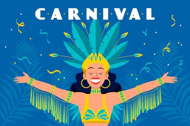 Hand gezeichnetes brasilianisches karnevalskonzept Kostenlosen Vektoren
