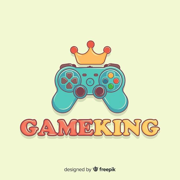 Hand gezeichnetes gamepad-logo Kostenlosen Vektoren