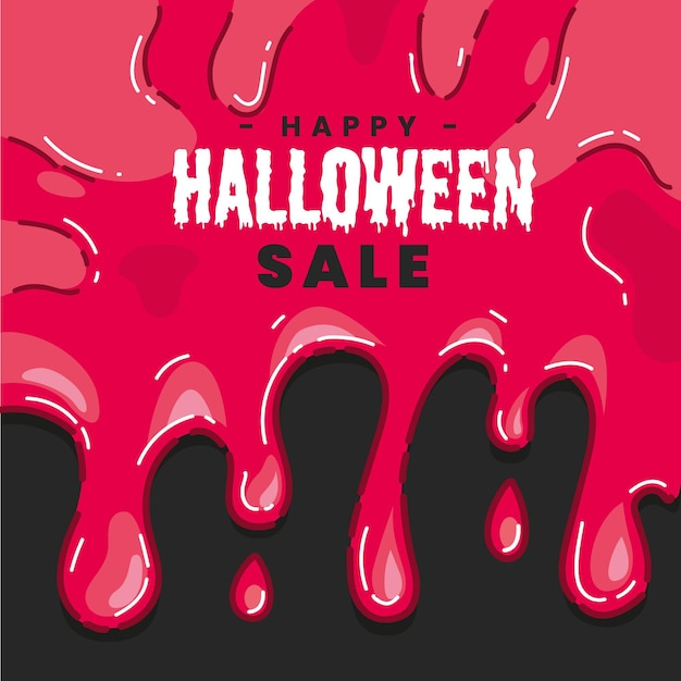 Hand gezeichnetes halloween-verkaufskonzept Kostenlosen Vektoren