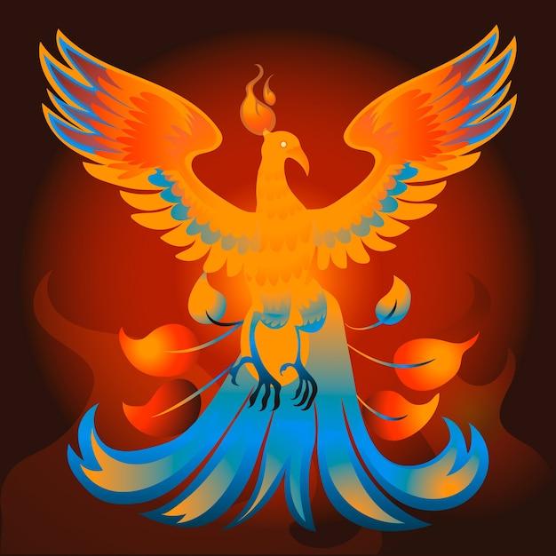 Hand gezeichnetes phoenix-konzept Kostenlosen Vektoren