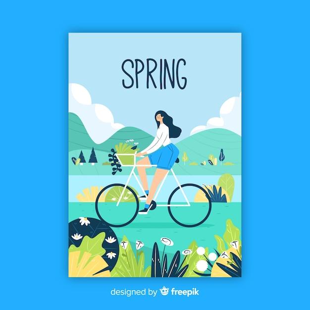 Hand gezeichnetes saisonfrühlingsplakat Kostenlosen Vektoren