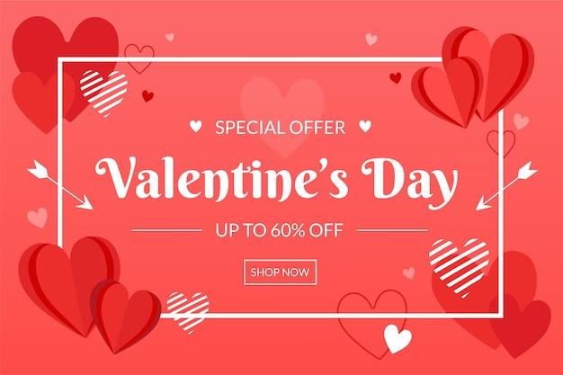 Hand gezeichnetes valentinstagverkaufskonzept Kostenlosen Vektoren