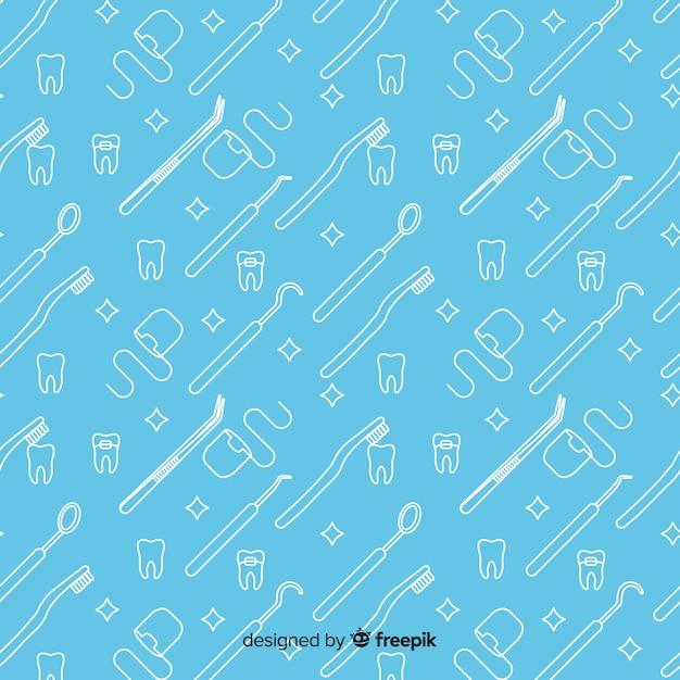 Hand gezeichnetes zahnmedizinisches produktmuster Kostenlosen Vektoren