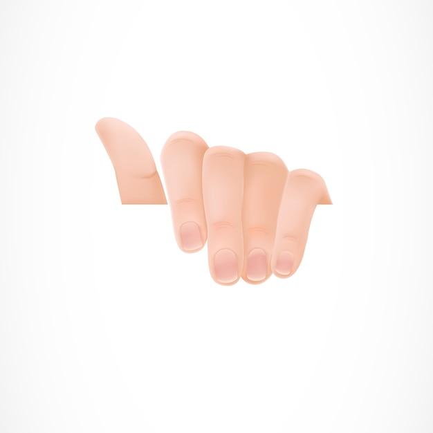 Hand hält ein weißes papier Kostenlosen Vektoren