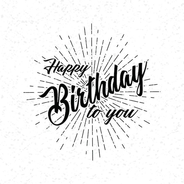 Hand Zeichnen Schriftzug Von Happy Birthday Download Der Premium
