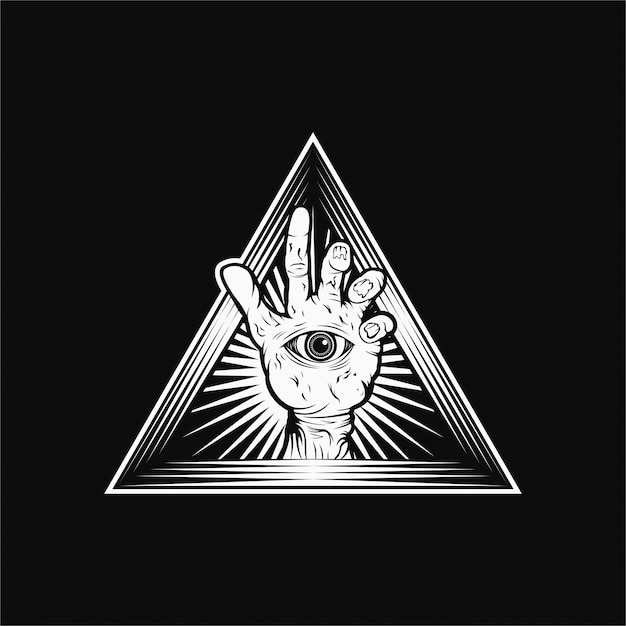 Hand-zombie-vektor-illustration Premium Vektoren