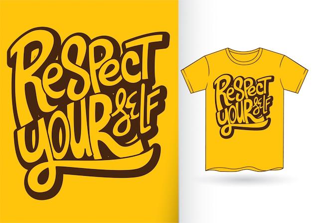 Handbriefgestaltung für t-shirt Premium Vektoren