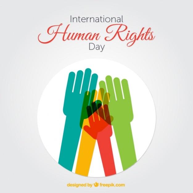 Hände mit verschiedenen Farben, Tag der Menschenrechte | Download ...
