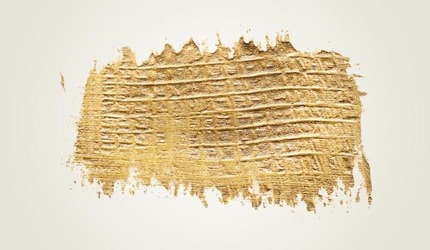 Handgemachte goldene pinselstrichfarbe Kostenlosen Vektoren