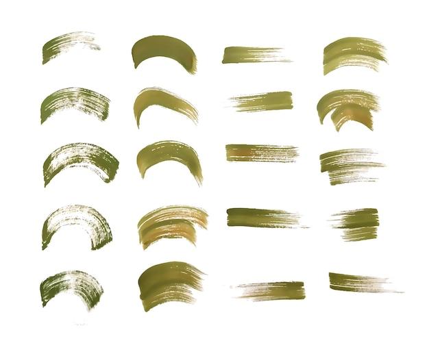 Handgemalte aquarellpinsel strich texturen gesetzt Kostenlosen Vektoren