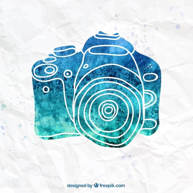Handgemalte kamera Kostenlosen Vektoren