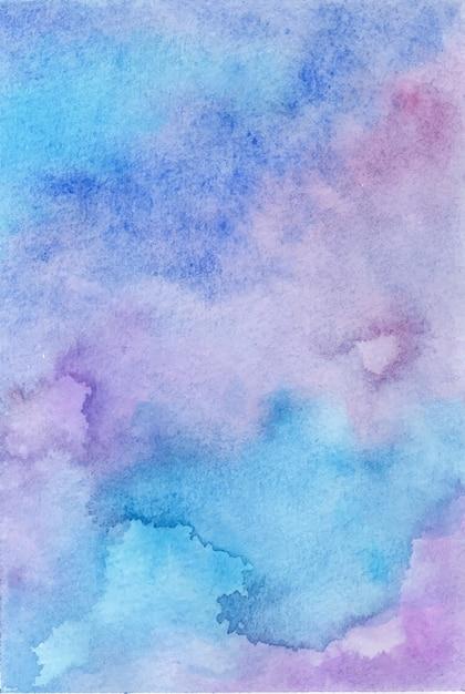 Handgemalter hintergrund des abstrakten aquarells Premium Vektoren