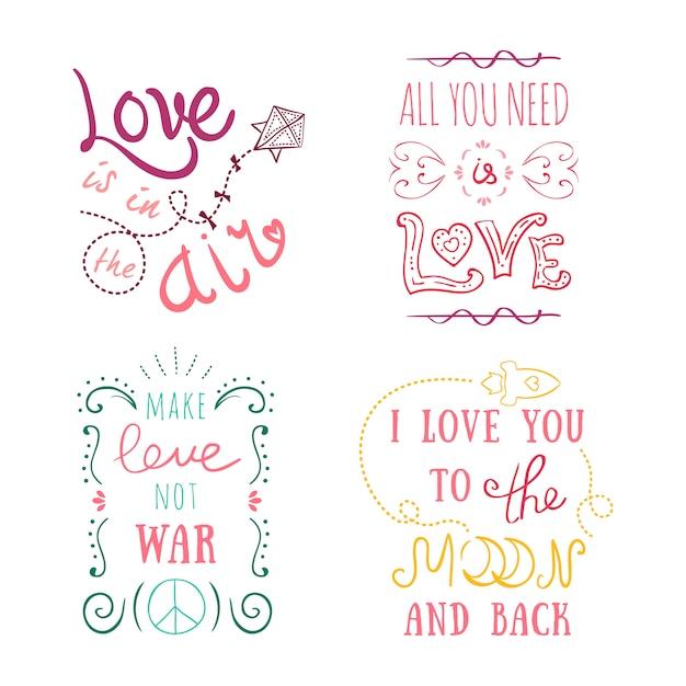 Handgeschriebene vintage st. valentinskarte - mit handgemachter kalligraphie Kostenlosen Vektoren
