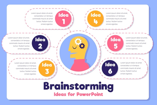 Handgezeichnete design-brainstorming-infografiken Kostenlosen Vektoren