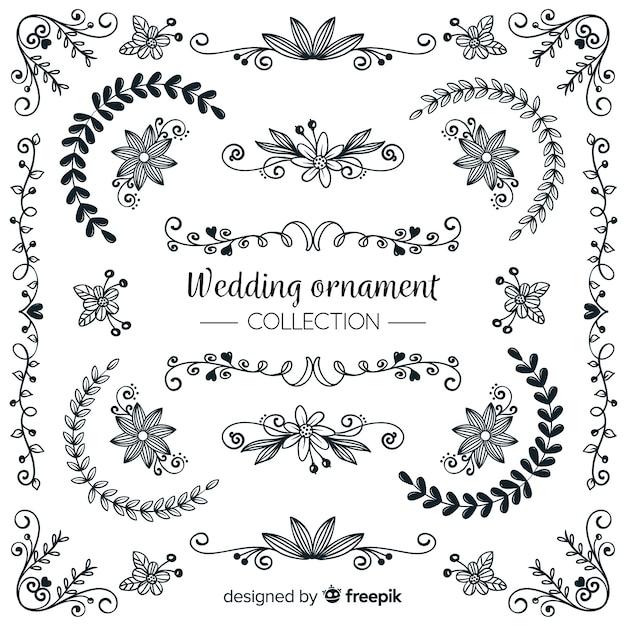 Ornamente Hochzeit Kostenlose Vektoren Fotos Und Psd Dateien