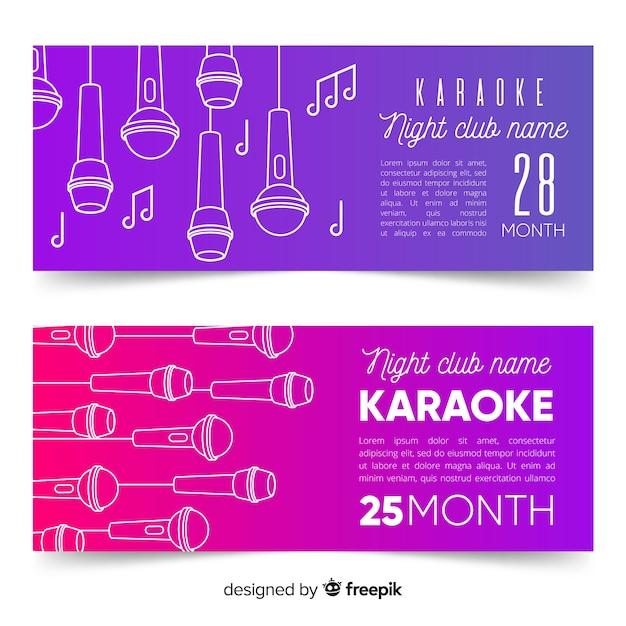Handgezeichnete karaoke party banner vorlage Kostenlosen Vektoren