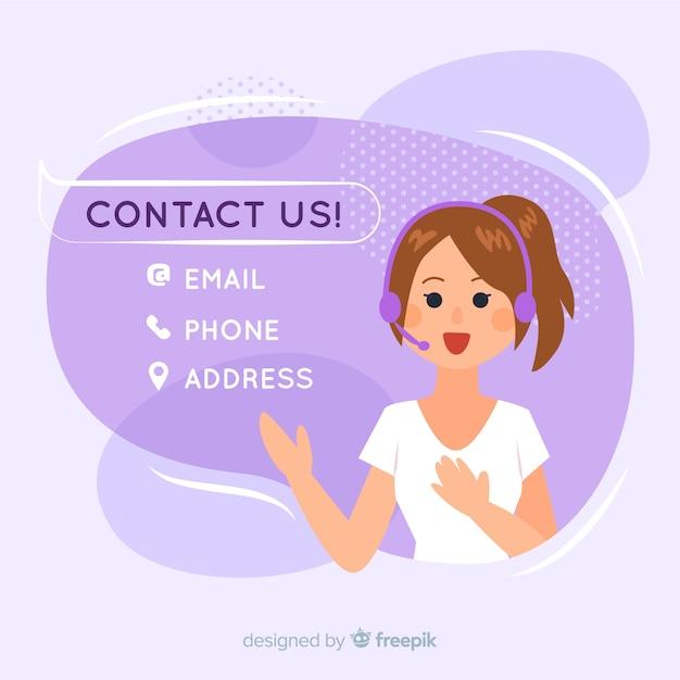 Handgezeichnete kontaktinformationen hintergrundvorlage Kostenlosen Vektoren