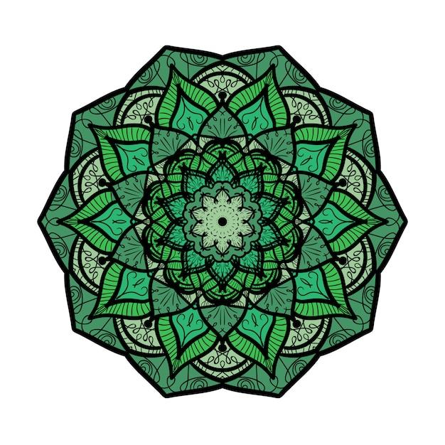 Handgezeichnete mandala in arabischer, indischer, islamischer und osmanischer kulturdekorationsart Premium Vektoren
