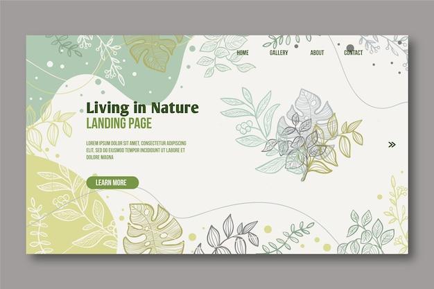 Handgezeichnete natur landing page Kostenlosen Vektoren