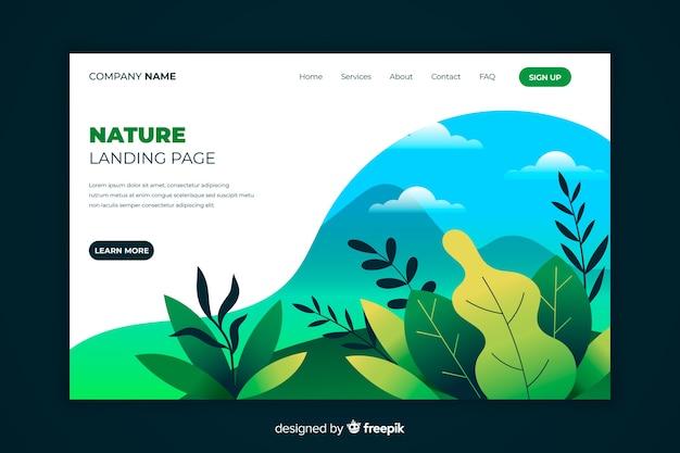 Handgezeichnete pflanzen landing page Kostenlosen Vektoren