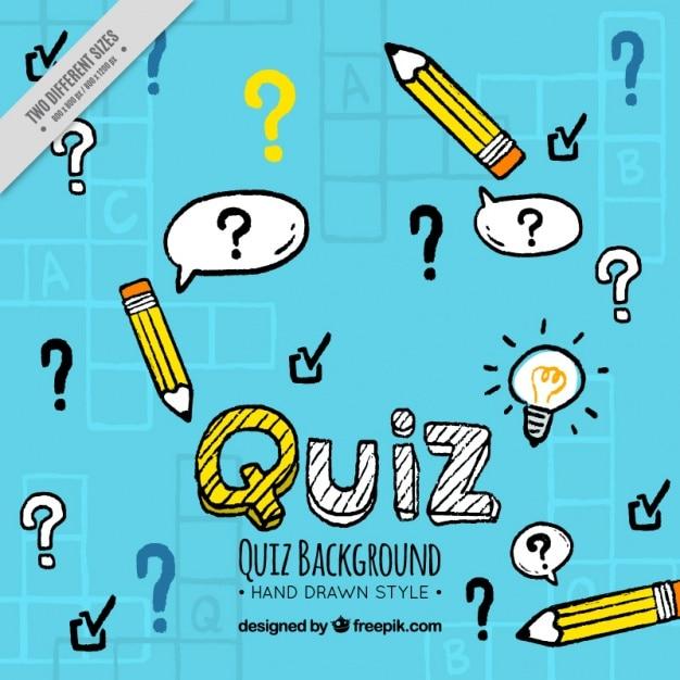 Handgezeichnete quiz hintergrund Kostenlosen Vektoren
