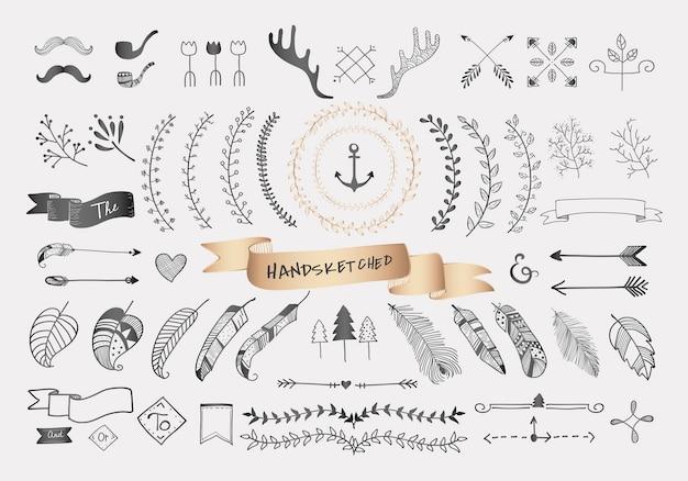 Handgezeichnete reise-design Kostenlosen Vektoren