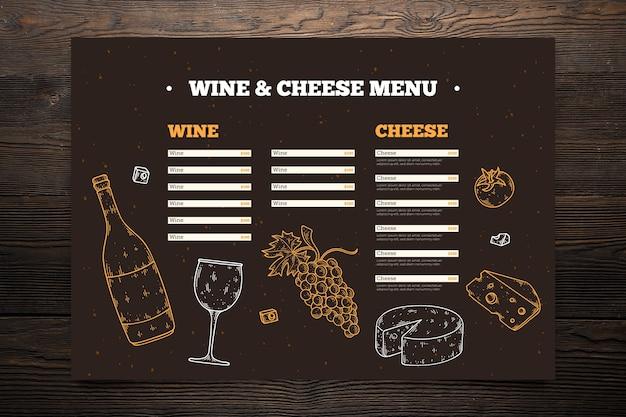 Handgezeichnete restaurant menüvorlage Kostenlosen Vektoren