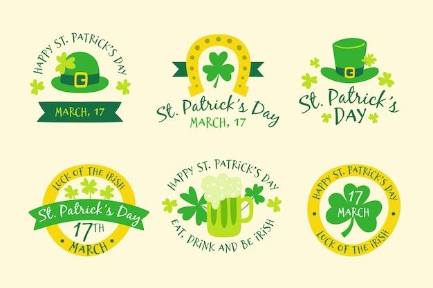 Handgezeichnete saint patricks'day label-auflistung Kostenlosen Vektoren