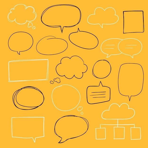 Handgezeichnete sprechblase-sammlung Kostenlosen Vektoren
