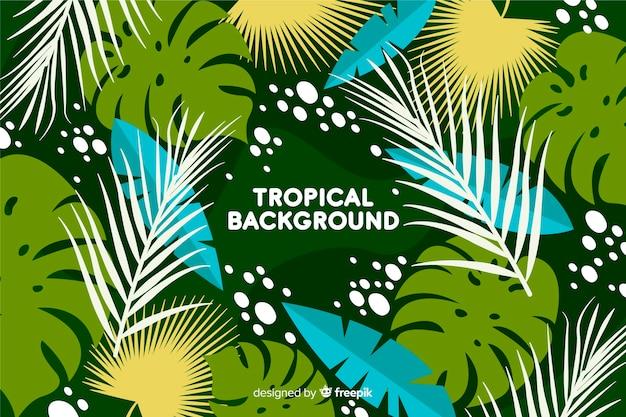 Handgezeichnete tropischen hintergrund Kostenlosen Vektoren