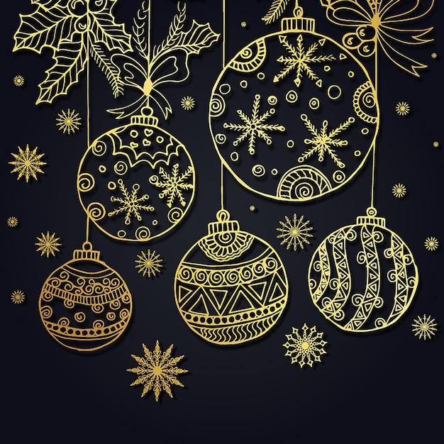 Handgezeichnete Weihnachten Hintergrund Kostenlose Vektoren