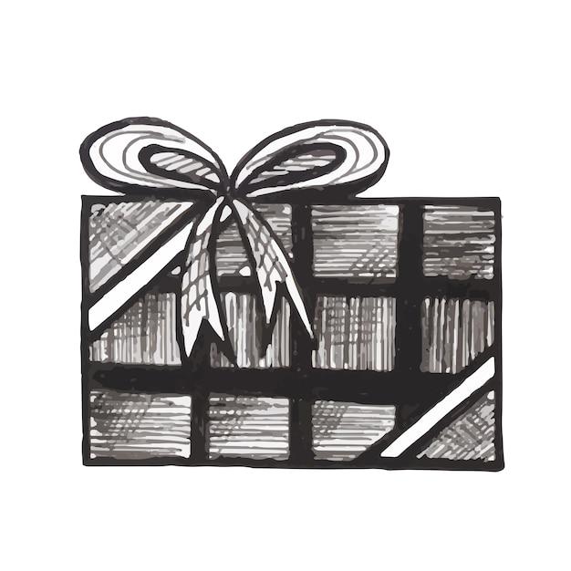 Weihnachtsmotive Schwarz Weiß Kostenlos.Handgezeichnete Weihnachten Schwarz Und Weiß Ornamnet Download Der