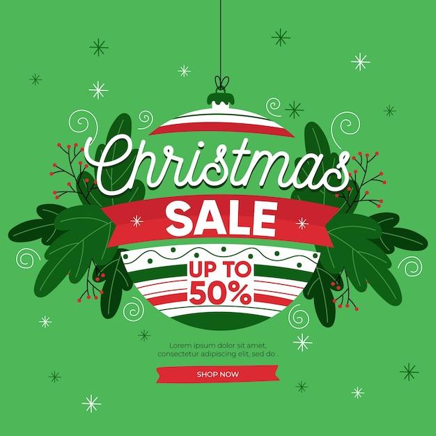 Handgezeichnete weihnachtsverkauf Kostenlosen Vektoren